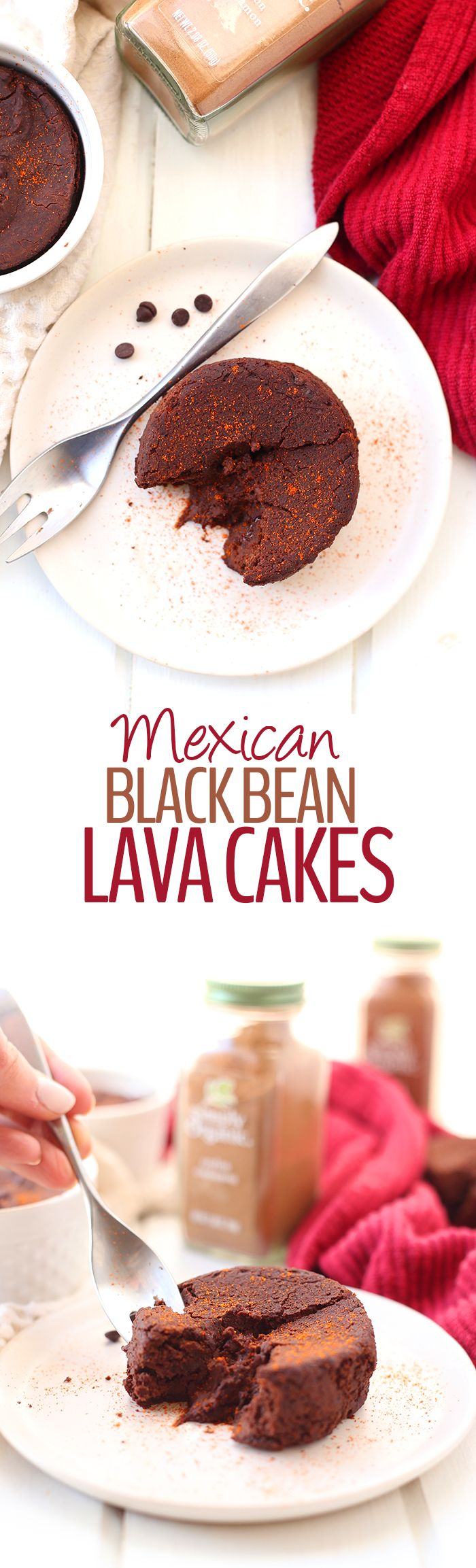 Your favorite chocolatey dessert got a spicy makeover with these Mexican Black Bean Lava Cakes. With a gooey center and a high-protein, healthy shell from black beans, you will only want this dessert recipe from now on.