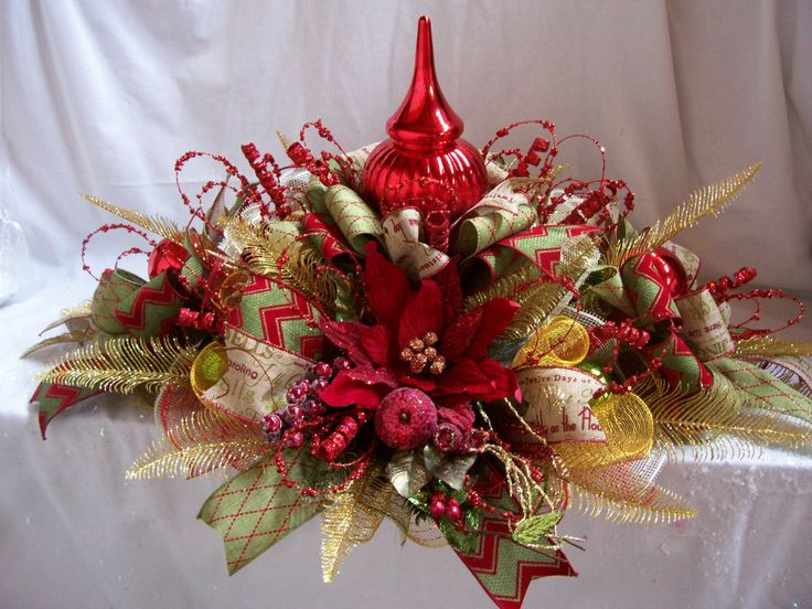 385 best Christmas Centerpieces images on Pinterest Christmas