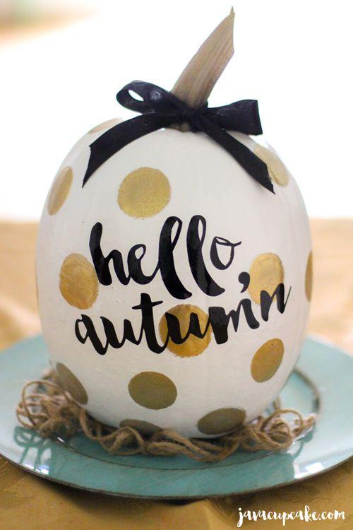 DIY Painted Pumpkins | JavaCupcake.com