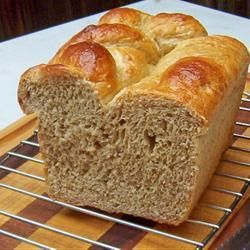 Wholesome Wholemeal Bread, 100% whole wheat, bread machine recipe