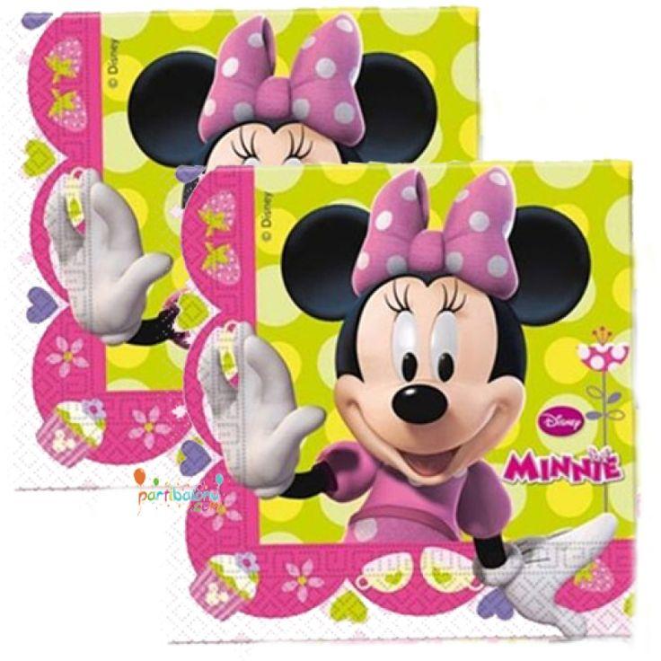 Minnie Mouse Peçete Mini Mouse Peçete Ürün Özellikleri  Ürün Paketinde 20 Adet Minnie Mouse Peçete bulunuyor. Kağıt Mini Mouse Peçete canlı renklere sahip olup, lisanslıdır. Minnie Mouse temalı peçetelerin boyutu 33x33 cm' dir