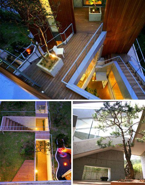 Concrete Fortress Contemporary Home As Castle Design 2