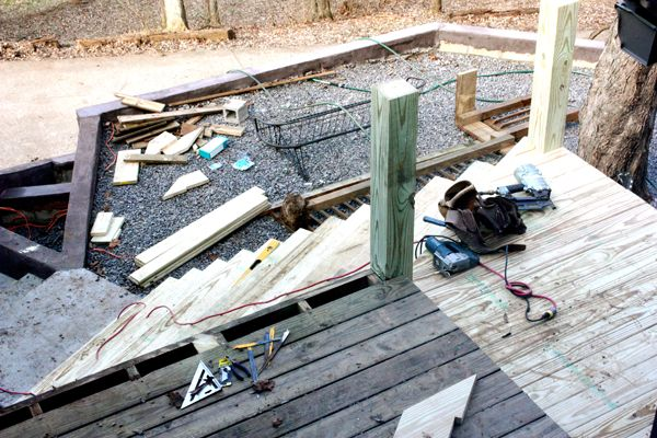 Exterior wood steps going in – ModFruGal