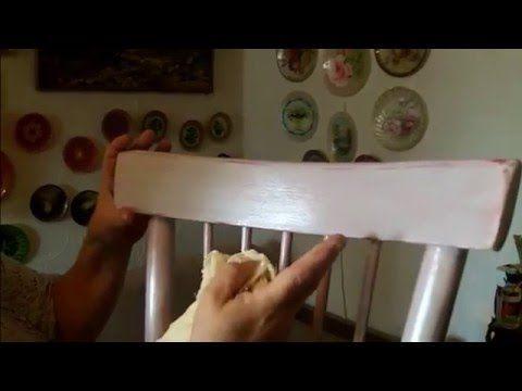 Декупаж деревянного стула (Дачный Прованс-2). Шаг 2 - YouTube