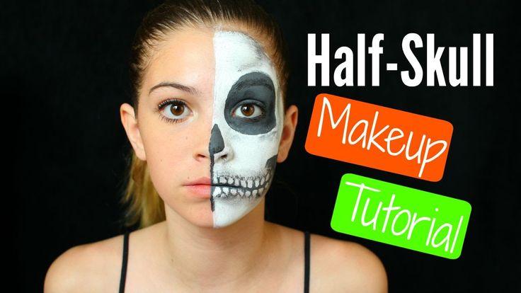 Half Skull Makeup Tutorial #AveryScaryFalloween
