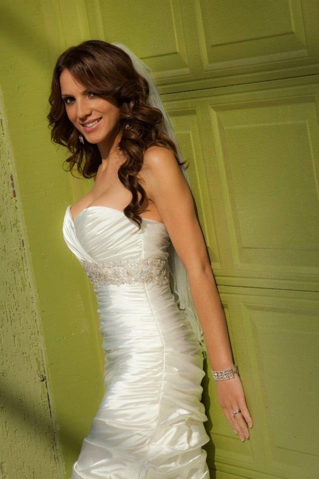 Bride on Green Garage