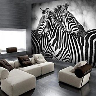 Een natuurlijke zwart-wit look met #fotobehang