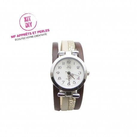 Une montre originale, que vous pourrez réaliser très facilement en suivant le tutoriel fourni dans les kits montres DIY de MF APPRETS ET PERLES