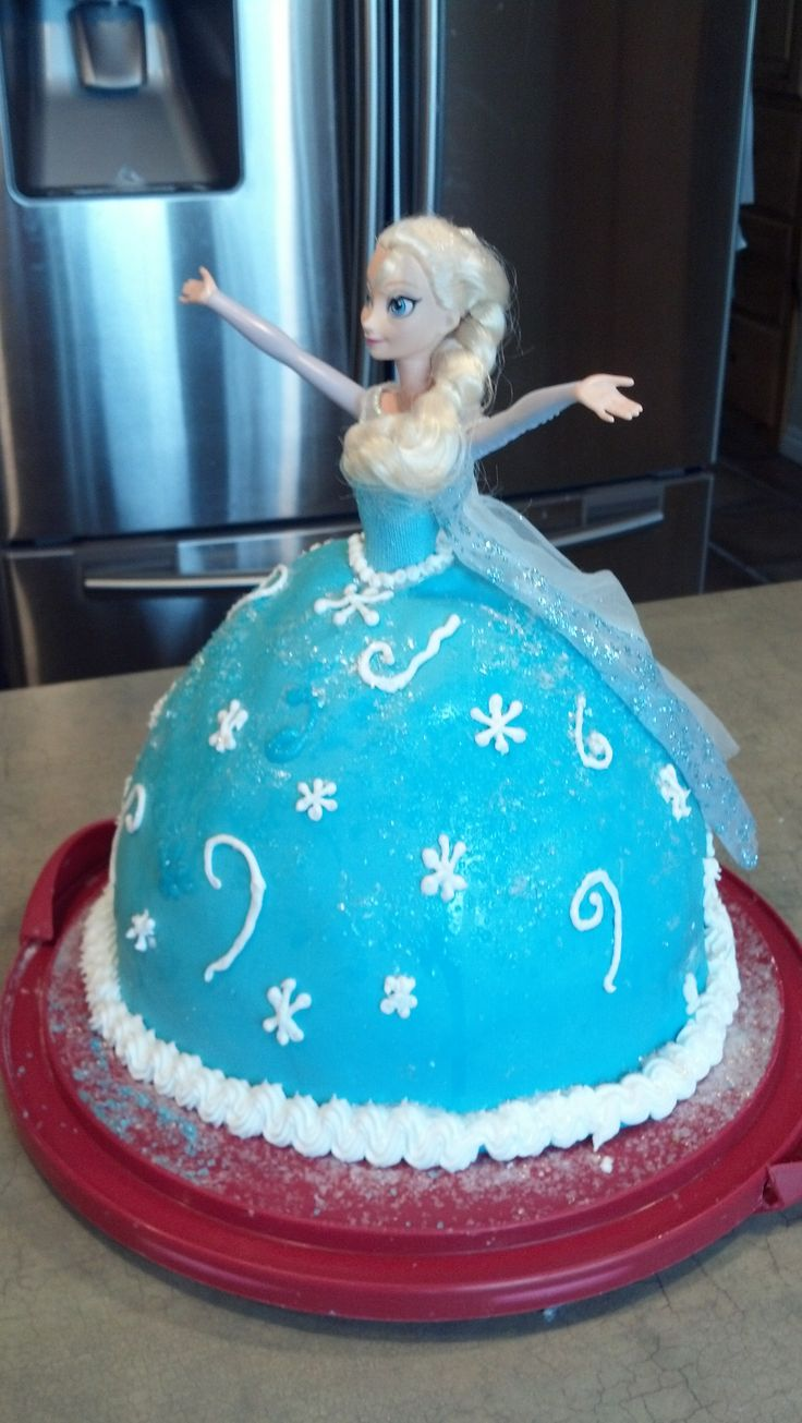 Elsa Doll Cake I Used The Wilton Doll Cake Pan And Doubled