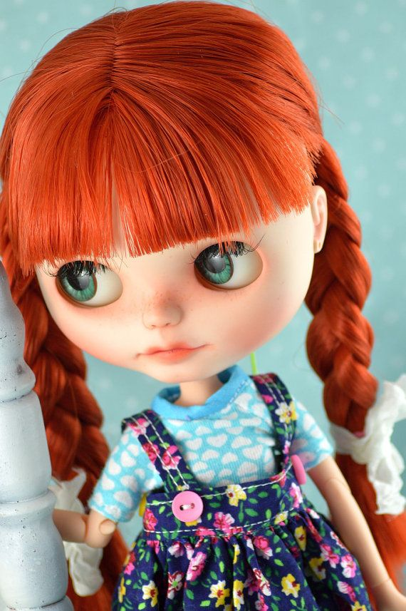 RESERVED for Rhonda ~~~~~~~~~~~~~~~OOAK Custom Blythe Saffron