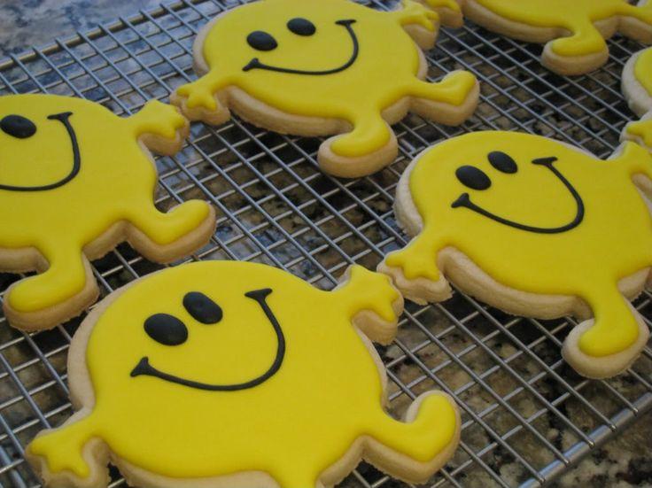 Mr. Happy cookiesMr Men and Little Miss cakes party kids boys girls birthday cupcake popcake cookies