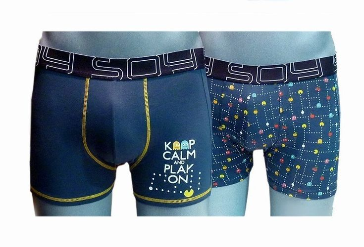 2 Pack Boxers Pac Man, Soy Underwear. Pack compuesto por 2 boxers muy informales y divertidos. #calzonzillos #RopaInteriorMasculina www.varelaintimo.com