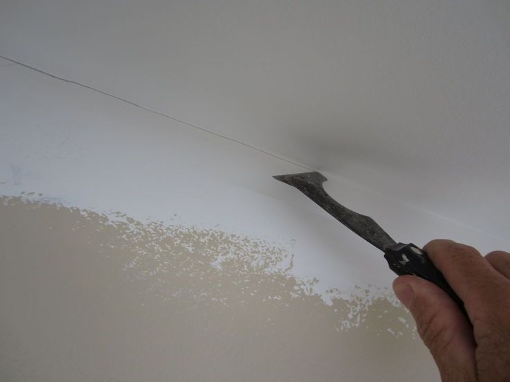 Painting a straight line at the ceiling trick