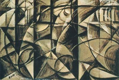 Balla, Giacomo; Speed of an Automobile; 1913; oil