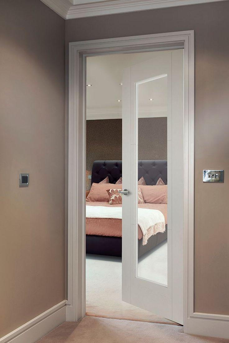 1-Light Ash Bespoke - beautiful white glazed door for modern homes