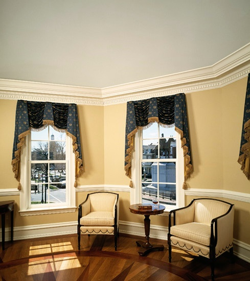 Federal style window design really traditional in style quintessential federal georgian for Federal style interior decorating