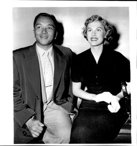 1954 Armi Kuusela Miss Universe 1952 with her newly wedded husband Hilario.