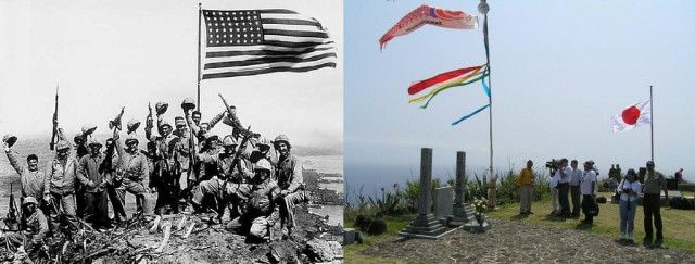 The invasion of Iwo Jima began on February 19, 1945, and continued to March 27, 1945. On February 23 Mount Surabachi was captured and the famous picture of the flag raising was taken by Joe Rosenthal
