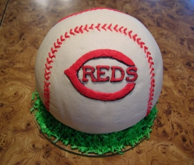 Cincinnati Reds 3D Baseball Cake By angel941985 on CakeCentral.com