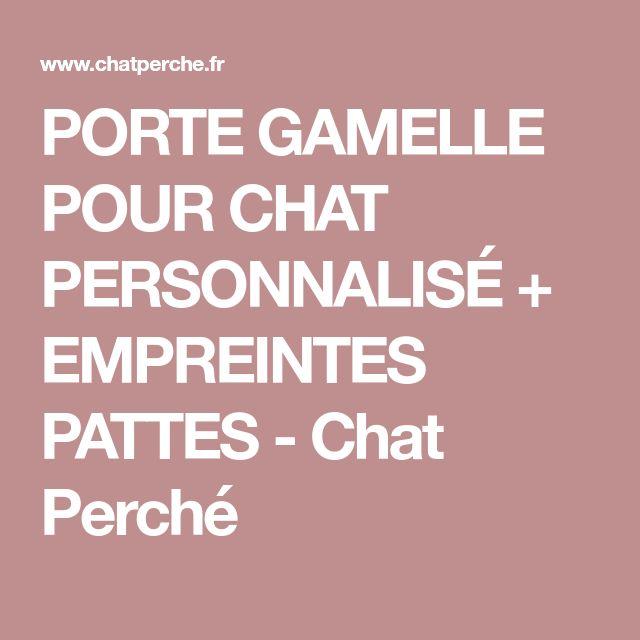 PORTE GAMELLE POUR CHAT PERSONNALISÉ + EMPREINTES PATTES - Chat Perché