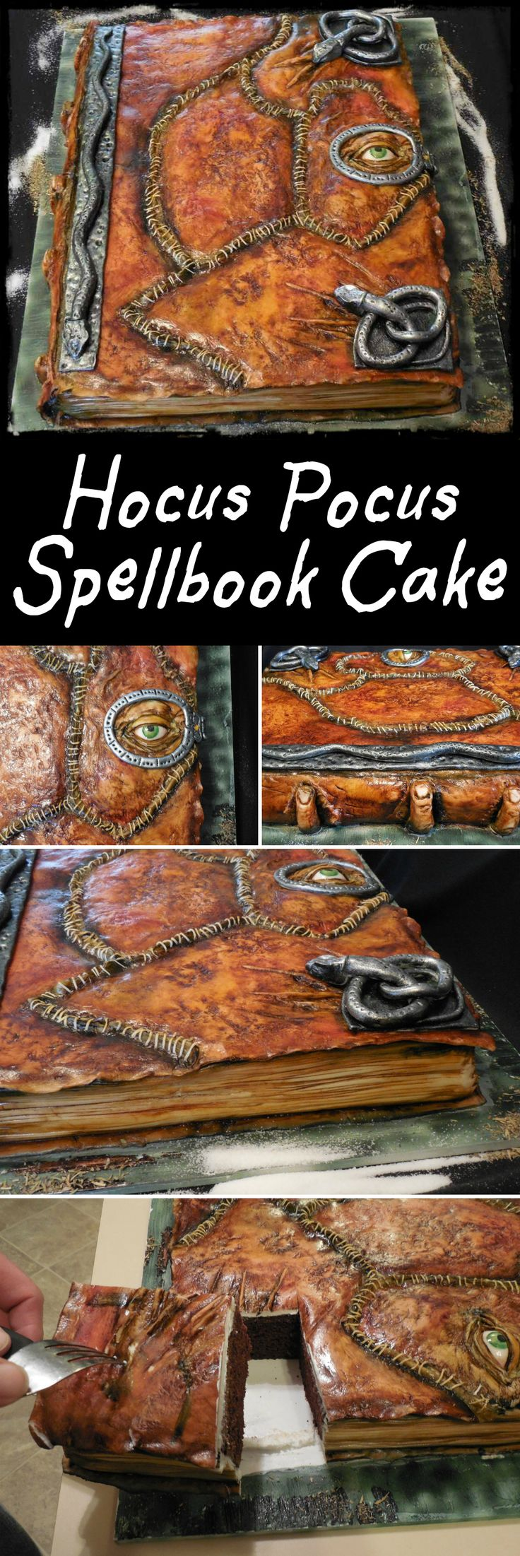 hocus pocus spellbook cake - Halloween Decorated Cakes
