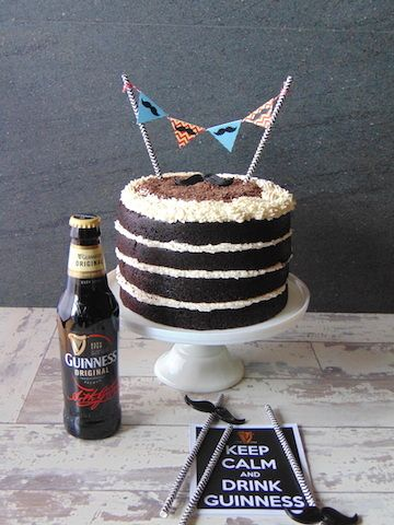Tarta de cerveza negra Guinness-Nude layer stout Guinness cake