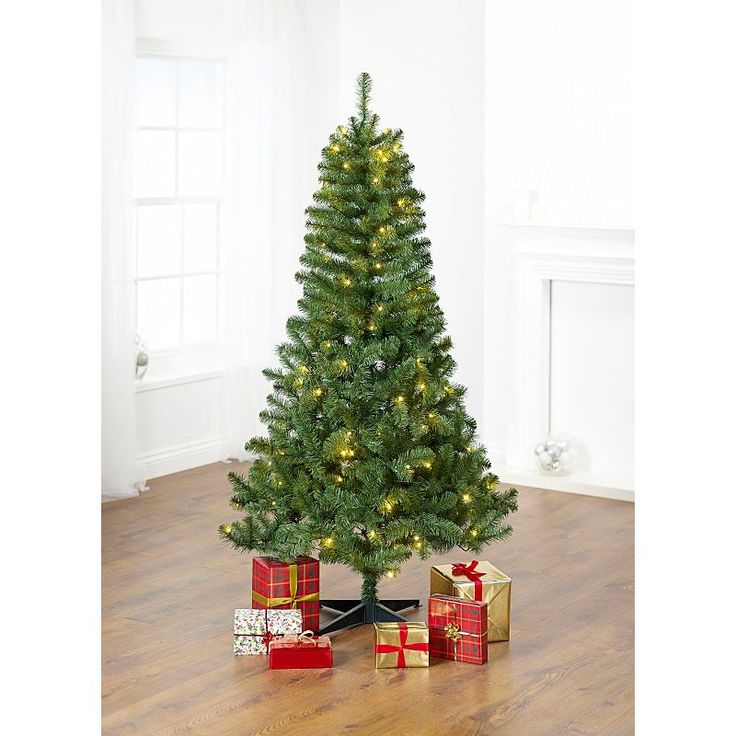 6ft 180cm Traditional Christmas Tree Pre Lit Asda