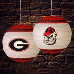 """Georgia UGA Bulldogs NCAA College 18"""" Rice Paper Lamp"""