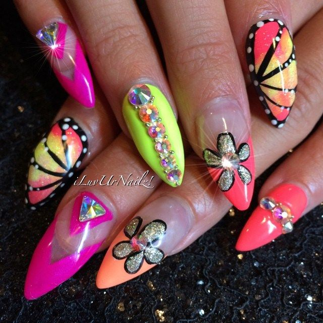 26 Impossible Japanese Nail Art Designs: 55 Best Music Festival Nail Art Images On Pinterest