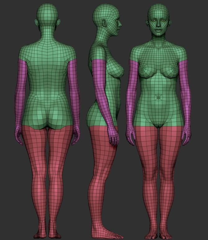 Female basemesh level 1