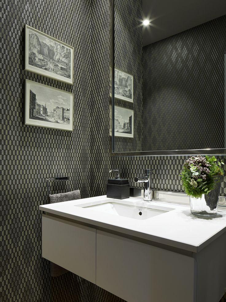 Molins Interiors // arquitectura interior - interiorismo - decoración - aseo - baño de cortesía - papel
