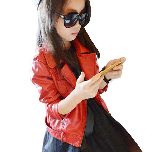 Girls Leather Biker Jacket