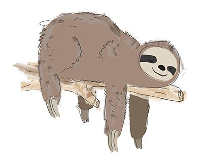 "Check out new work on my @Behance portfolio: ""Sleeping  sloth"" http://be.net/gallery/33102543/Sleeping-sloth"