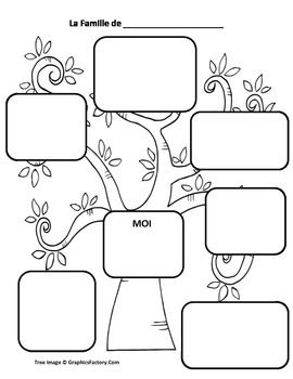Create a family tree with the French vocabulary words learned in the Family Vocabulary Flashcards PDF. You can have them add their different family members as you slowly go through the slides of the family vocabulary flashcards PDF available here: https://www.teacherspayteachers.com/Product/Family-French-Vocabulary-Flashcards-1553576 They start by drawing a photo of them.