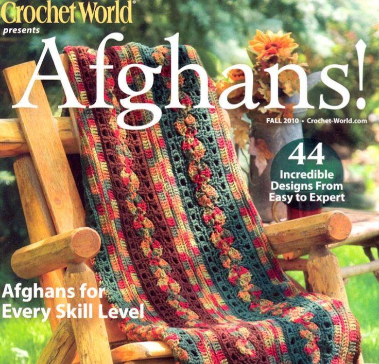 Patrones Crochet: Revista de 44 Mantas Tejidas