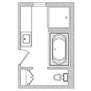 6 X 11 Bathroom Design | Bathroom layout, Master bathroom ...