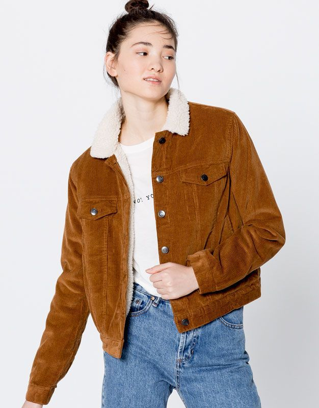 Corduroy Jacket Clothing New Woman Pull Bear United Kingdom Jackets For Women Jacket Outfits Clothes