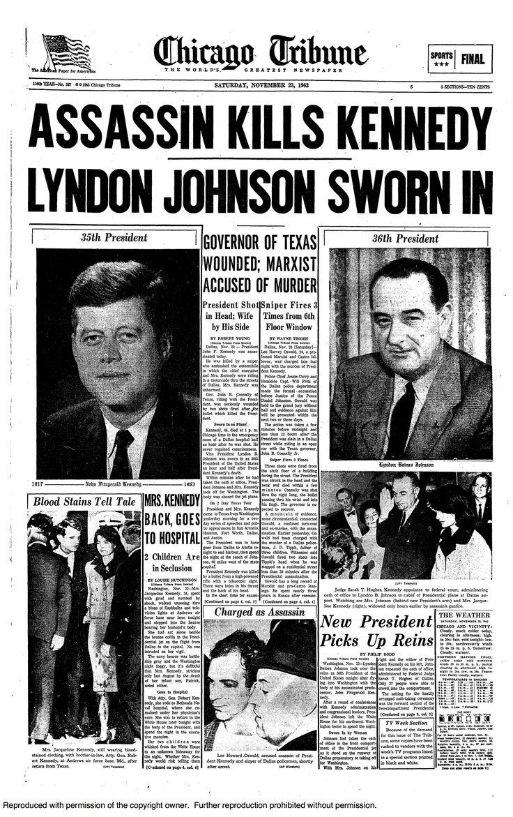 A history of the killing of john f kennedy