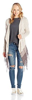 Rip Curl Juniors' Vagabond Hooded Cardigan Chunky Sweater - Shop for women's Cardigan