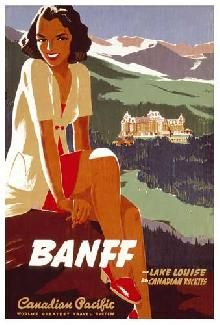 Canadian Pacific vintage print - Banff And Lake Louise In The Rockies
