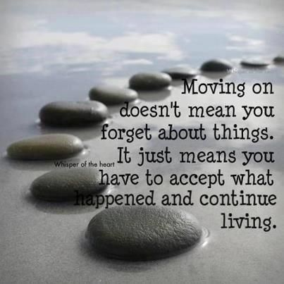 Accept what happened...