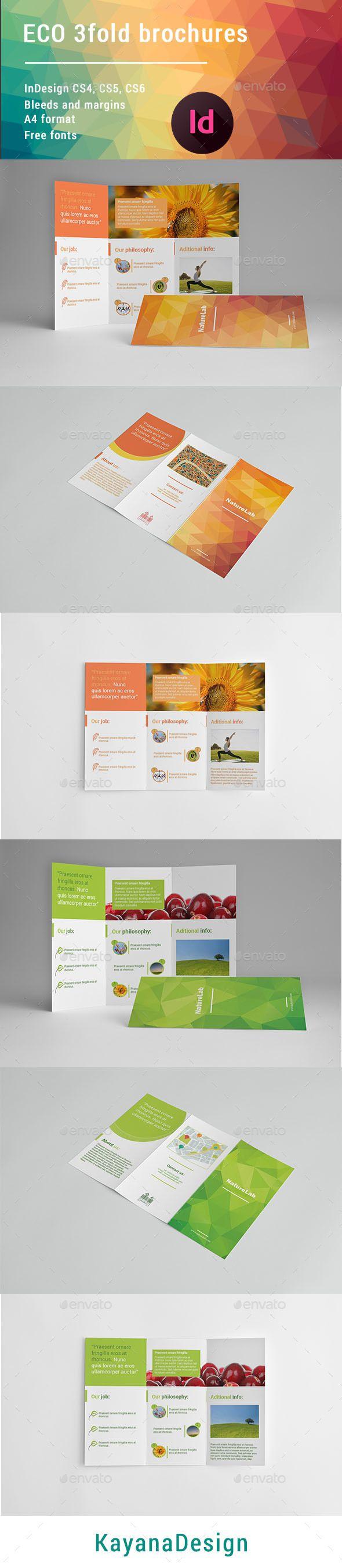 Eco 3 Fold #Brochures - Brochures Print Templates Download here: https://graphicriver.net/item/eco-3-fold-brochures/19693938?ref=alena994