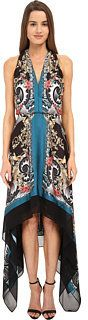 Versace Collection Printed Halter Asymetrical Hem Gown Women's Dress
