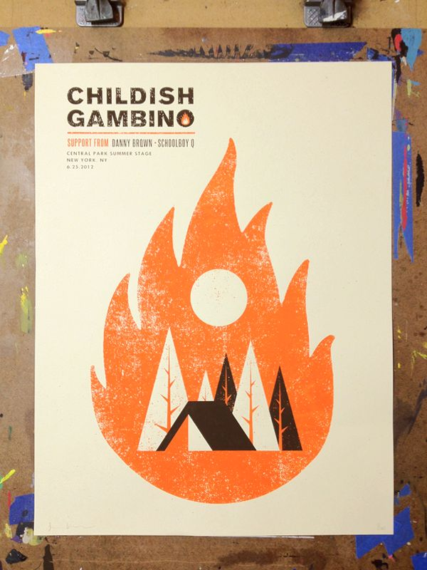 Childish Gambino - New York, NY Central Park Summer Stage by Nerl Says design