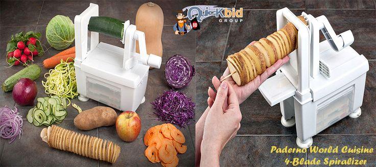 Paderno World Cuisine 4-Blade Spiralizer at #best #online #penny #auction site.