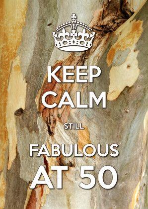 Keep Calm Fabulous at 50-2 - Verjaardagskaarten - Kaartje2go