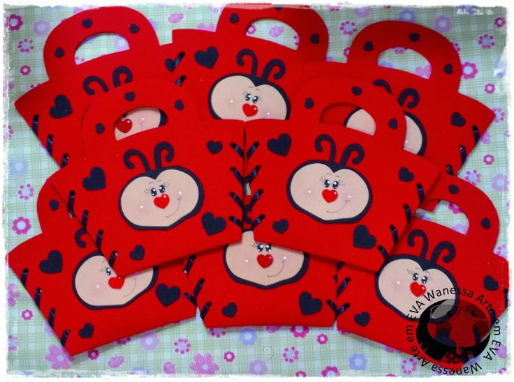 portagolosinas-bolsa de regalo-mariquita