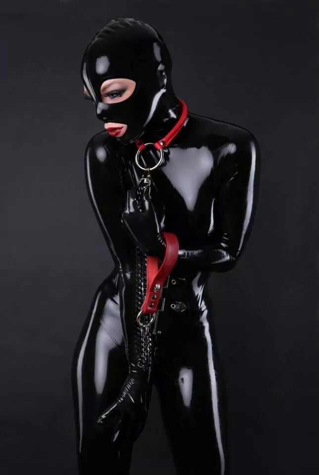 Rubber slave in bondage and chastity 5