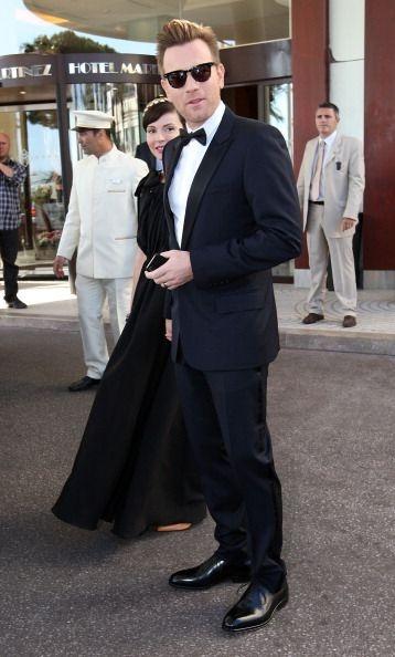 Ewan McGregor in Ferragamo lace up shoes