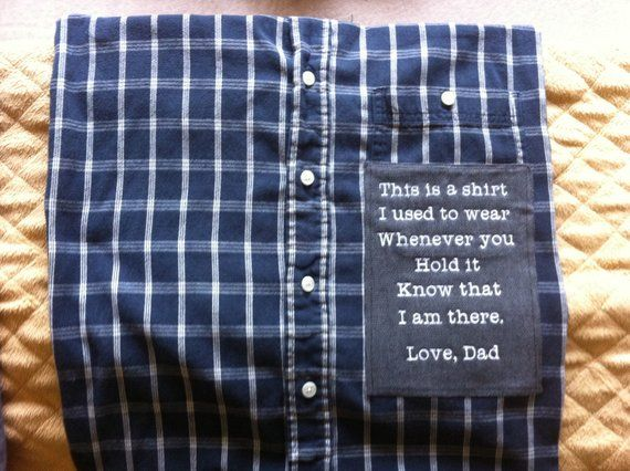 memory pillow from shirt